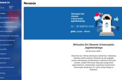 Uniwersytet Jagielloński – Wirtualne dni otwarte